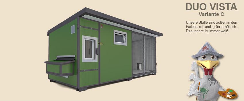 h hnerstall duo vista mit voliere heinicoop h hnerst lle. Black Bedroom Furniture Sets. Home Design Ideas