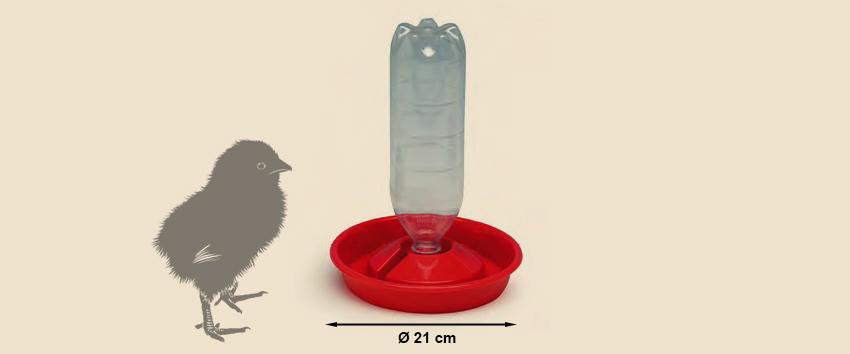 PET - Flaschen Tränke für Küken - Kükentränke- HeiniCoop